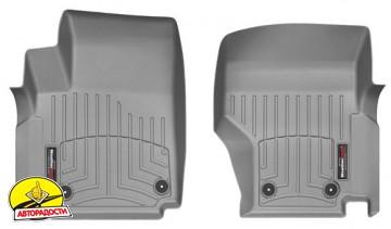 Коврики в салон для Volkswagen Amarok '10- серые, резиновые 3D (WeatherTech)
