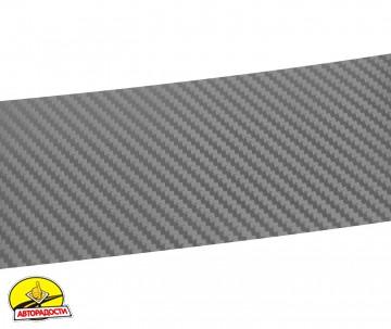 Наклейка на бампер для Lancia Ypsilon 11-, карбон, серая (NataNiko)