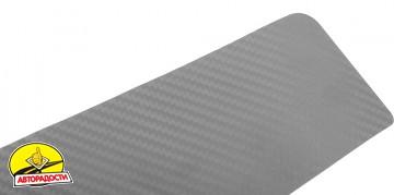 Наклейки на пороги для Citroen C4 '05-09, 3 дв., карбон, серые (NataNiko)