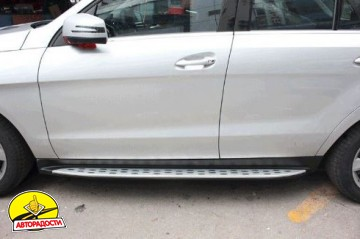 Пороги (подножки) для Mercedes GLE/ML-Class W166 '11-  (ASP)