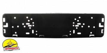 Рамка номера металлическая СarLife черная матовая