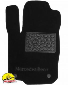 Коврики в салон для Mercedes GLE-Coupe C292 '15- текстильные, черные (Премиум) 8 клипс