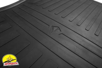 Коврики в салон для Toyota Sequoia '08- 1+2 ряд, резиновые (Stingray)