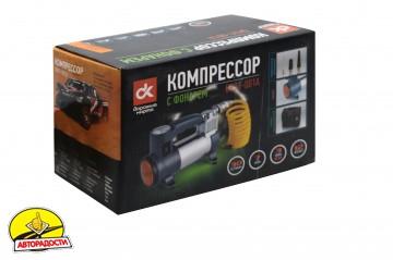 Компрессор автомобильный Дорожная карта DK31-001A с фонарем