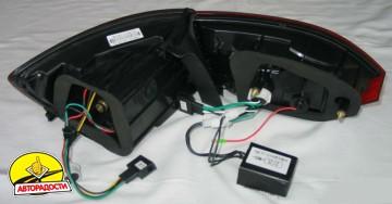 Фонари задние для Volkswagen Jetta VI '12- LED, к-кт (Junyan)