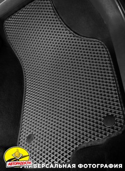 Коврики в салон для BMW 3 E36 '90-99, EVA-полимерные, черные (Kinetic)