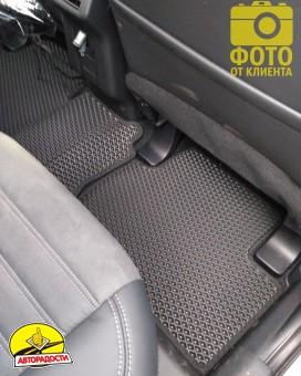Коврики в салон для Mitsubishi Outlander '12-, EVA-полимерные, черные (Kinetic)