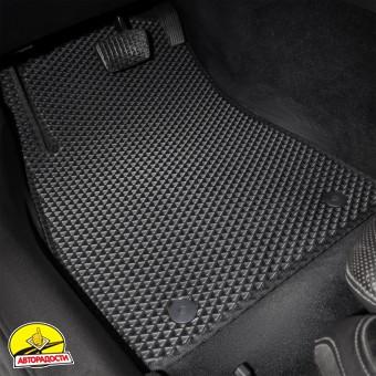 Коврики в салон для Nissan X-Terra II '04-15, EVA-полимерные, черные (Kinetic)