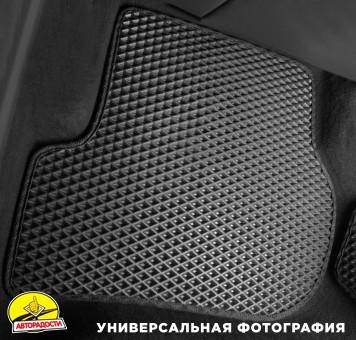 Коврики в салон для Opel Omega A '86-94, EVA-полимерные, черные (Kinetic)