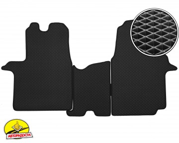Коврики в салон передние для Opel Vivaro '15-, EVA-полимерные, черные (Kinetic)
