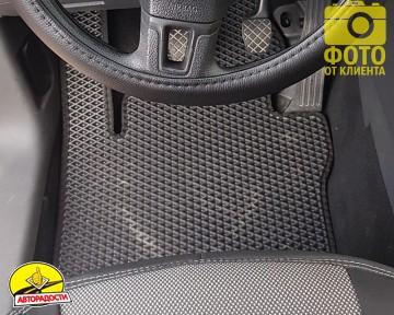 Коврики в салон для Volkswagen Caddy '04-15, 4 дв. EVA-полимерные, черные (Kinetic)