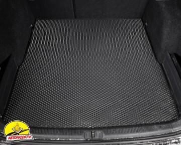 Коврик в багажник для Volkswagen Passat B6 '05-10 универсал, EVA-полимерный, черный (Kinetic)