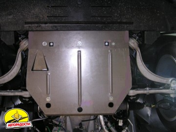 Защита двигателя и радиатора для Jaguar XJ6 '03-09, V-3,5, АКПП (Кольчуга) Zipoflex