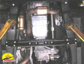 Защита двигателя и КПП, редуктора, радиатора для Jeep Commander '06-10, V-3,0 CRD, АКПП (Кольчуга) Zipoflex