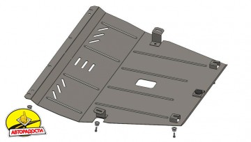 Защита двигателя и КПП, радиатора для Jeep Cherokee KL '14-, V-2,0CRDI, АКПП (Кольчуга) Zipoflex