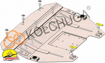 Защита двигателя и КПП, радиатора для Mini Cooper '11-14, V-2,0D, АКПП, 4x4 (Кольчуга) Zipoflex