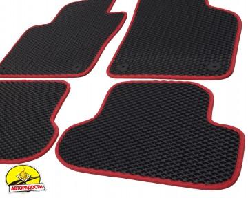 Коврики в салон для Volkswagen Beetle '12-, EVA-полимерные, черные с красным кантом (Kinetic)