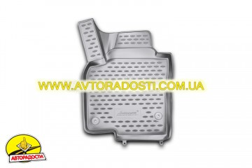 Коврики в салон для Volkswagen Tiguan '07-16 полиуретановые, серые (Novline / Element)