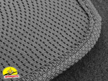 Коврики в салон для Renault Kadjar '15- текстильные, серые (Стандарт)