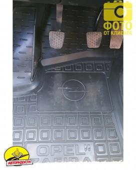 Коврики в салон для Opel Zafira '99-05 резиновые, черные (AVTO-Gumm)