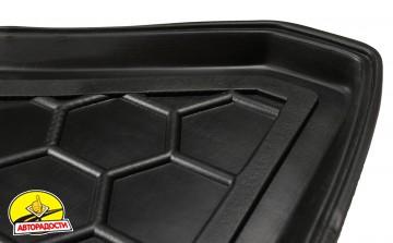 Коврик в багажник для Opel Corsa D '06-14, нижний резиновый (AVTO-Gumm)