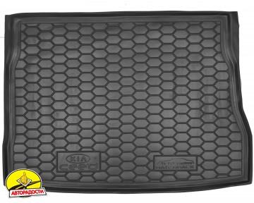 Коврик в багажник для Kia Ceed '06-10, хетчбэк резиновый (AVTO-Gumm)