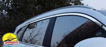 Накладки (молдинги) окон для Hyundai Tucson '15-, верхние, хром (ASP)