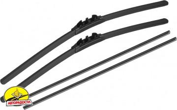 Щётки стеклоочистителя бескаркасные Alca All Seasons 650 и 500 мм. Bayonet arm (набор)