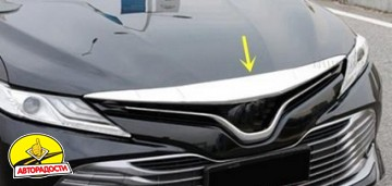 Накладка на капот для Toyota Camry V70 '18-, хром (ASP)
