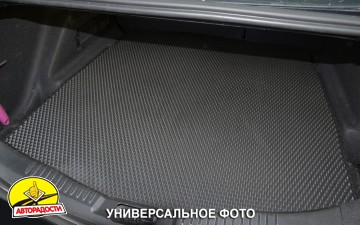 Коврик в багажник для BMW X6 E71 '08-14, EVA-полимерный, черный (Kinetic)