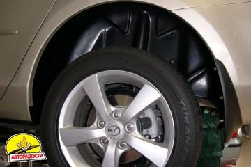Подкрылок задний левый для Mazda 3 '04-09, кроме хетчбек Sport (Novline)
