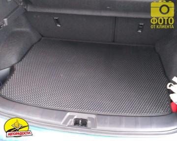 Коврик в багажник для Nissan Qashqai '17-, верхняя полка, EVA-полимерный, черный (Kinetic)