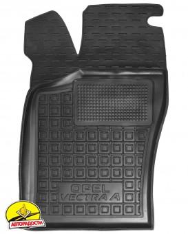 Коврик в салон водительский для Opel Vectra A '88-95 резиновый, черный (AVTO-Gumm)