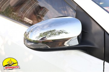Накладки на зеркала для Toyota Corolla с 2013-, хром (ASP)