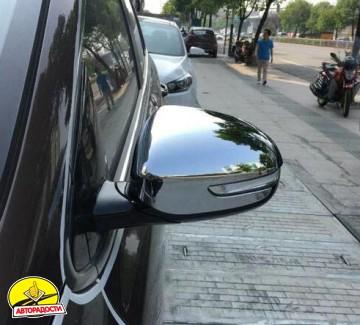 Накладки на зеркала для Kia Sportage 2016-, хром, цельные (ASP)