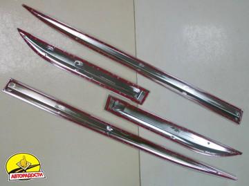 Накладки (молдинги) на дверь для Toyota Highlander '14-,  хром,  ABS V1 (ASP)
