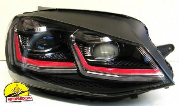 Передние фары для Volkswagen Golf VII '12-,  LD стиль GTI 7.5 (ASP)