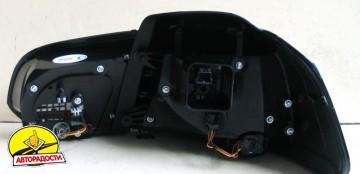 Фонари задние для Volkswagen Golf VI '09-12, LED R20, черные (ASP)