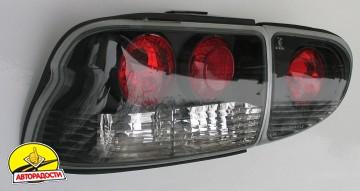Фонари задние для Ford Escort '95-00, черные (ASP)