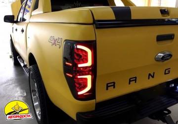 Фонари задние для Ford Ranger '11-, LED, черные (ASP)