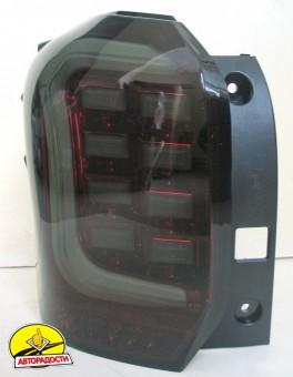 Фонари задние для Subaru Forester '13-18, LED, тонированный хром (ASP)