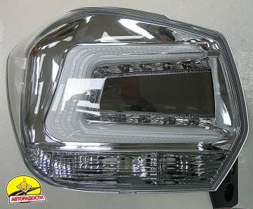 Фонари задние для Subaru XV '11-16, LED, хром прозрачный (ASP)