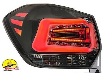 Фонари задние для Subaru XV '11-16, LED, хром тонированный (ASP)