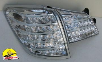 Фонари задние для Subaru Outback '09-14, LED, хром BR9 (ASP)