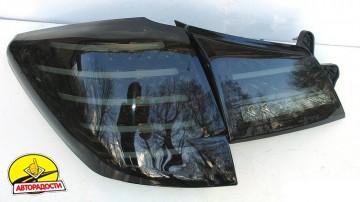 Фонари задние для Subaru Outback '09-14, LED, тонированный хром BR9 (ASP)