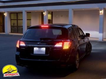 Фонари задние для Subaru Outback '09-14, LED, красные BR9 (ASP)