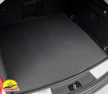 Коврик в багажник для BMW X1 F48 '15- с креплениями задних сидений, EVA-полимерный, черный (Kinetic)