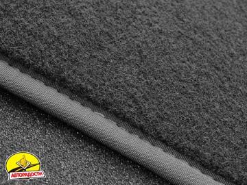 Коврики в салон для Citroen SpaceTourer '16- 1+1, текстильные, серые (Премиум) 2 клипсы