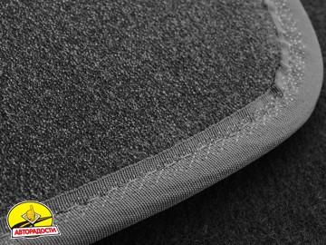 Коврики в салон для Citroen SpaceTourer '16- 1+2, передние, текстильные, серые (Премиум) 2 клипсы
