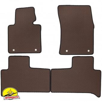 Коврики в салон для Land Rover Range Rover '02-12, EVA-полимерные, коричневые (Kinetic)
